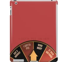 Scott Pilgrim's wheel of indecision iPad Case/Skin
