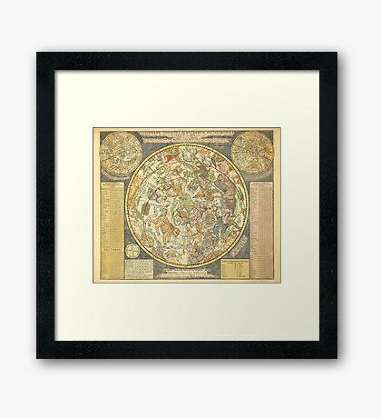 Northern Sky Star Chart Constellations 1748 Framed Print