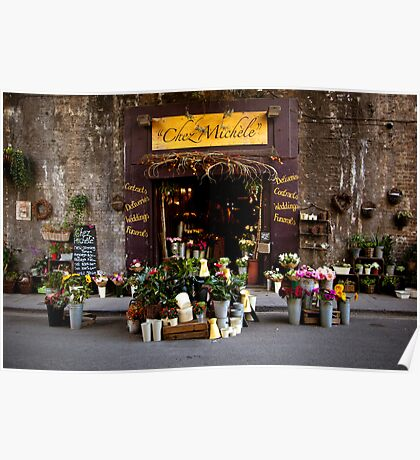 Chez Michele florist  at Borough Market Poster
