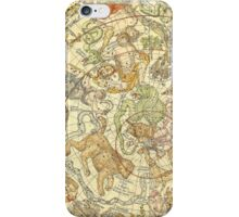Northern Sky Star Chart Constellations 1748 iPhone Case/Skin