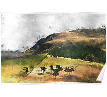 Saddleworth Hillside Poster
