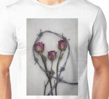three roses and barbed wire Unisex T-Shirt