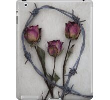 three roses and barbed wire iPad Case/Skin