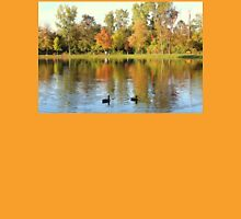 Fall Colors Reflecting In Pond With Ducks Unisex T-Shirt