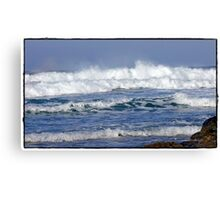 """ Storms again  batter Cornwall"" Canvas Print"