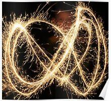 Sparks light trails Poster