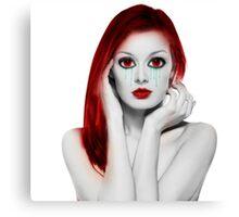 Vampire Girl Canvas Print