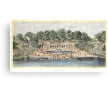 Bethesda Terrace Central Park Vintage Artwork Canvas Print