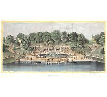 Bethesda Terrace Central Park Vintage Artwork Photographic Print
