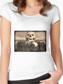 """""""Little Sisters of the Divine Skull"""" Women's Fitted Scoop T-Shirt"""