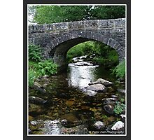 A bridge over Shallow Waters! Photographic Print