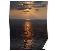 Sunset at the Bay of Banderas Poster