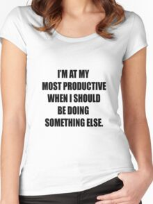 Procrastination at its finest. Women's Fitted Scoop T-Shirt