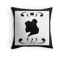 Belle Silhouette Throw Pillow