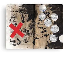 Altered Book 19 Canvas Print