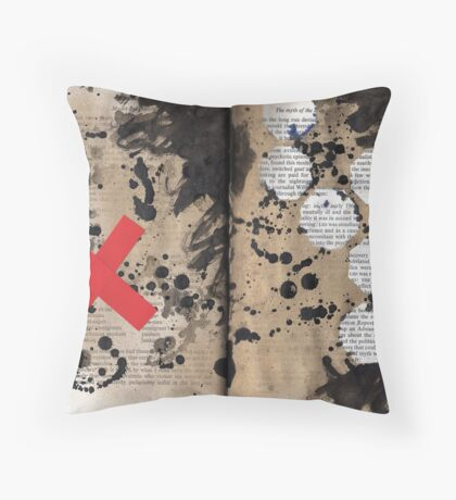 Altered Book 19 Throw Pillow