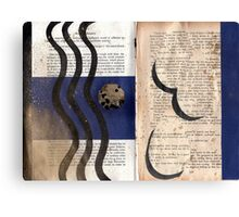 Altered Book 16 Canvas Print