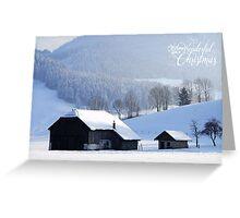 Wishing You a Wonderful Christmas Greeting Card