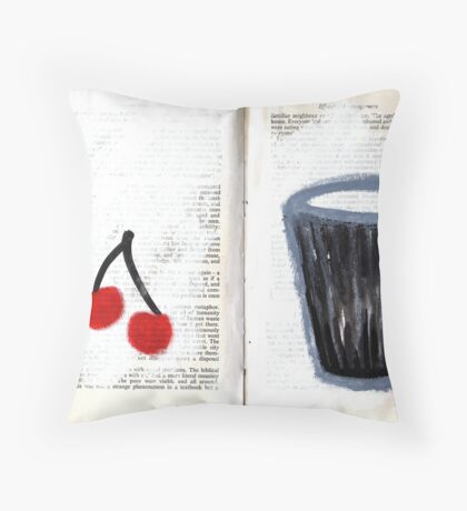 Altered Book 23 Throw Pillow