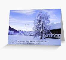 The Magic Wand of Christmas ;) Greeting Card