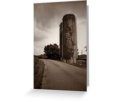 Farm Silo  Greeting Card