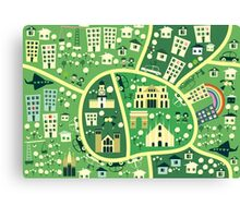 cartoon map of milan Canvas Print