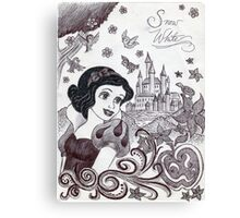 Monochrome Princess SW Canvas Print
