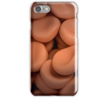 Conceptual image of red blood cells. iPhone Case/Skin