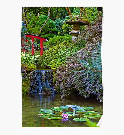 Canada. BC. Butchart Gardens. Japanese Garden. Poster