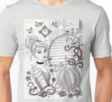 Monochrome Princess C Unisex T-Shirt