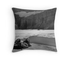 Grinnell Glacier (BW) Throw Pillow