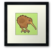 Kawaii Kiwi Framed Print