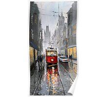 Prague Old Tram 07 Poster