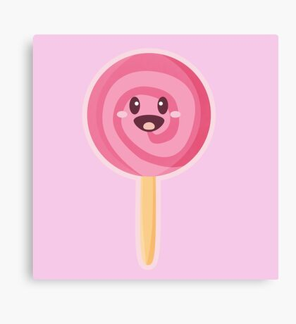 Kawaii Lollipop Canvas Print