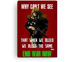 War Poster Canvas Print