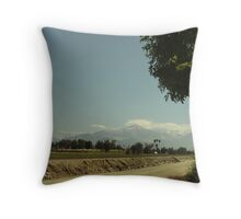 Snow In Southern California Throw Pillow