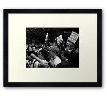 Anti Swearing Demonstration Framed Print