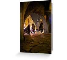 St. Florian's Gate . Brama Floriańska) in Kraków, Poland . of the best-known Polish Gothic towers, and a focal point of Kraków's Old Town. by Brown Sugar. Greeting Card