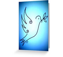 Shiloh Moore's 'Blue Dove' Greeting Card