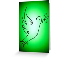 Shiloh Moore's 'Green Dove' Greeting Card