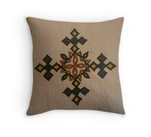 Ethiopian Cross Design Throw Pillow