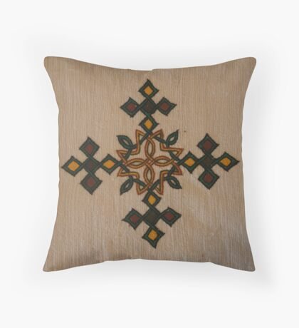 Ethiopian Cross Design Throw Pillow