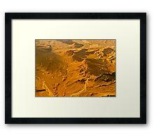 Molten Golden Framed Print