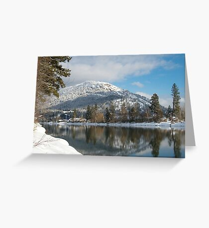 Enderby Cliffs in Winter Greeting Card