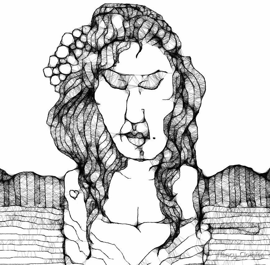 Portrait of Amy Winehouse by Nancy  Clothier