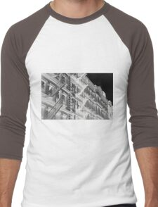 Abstract New York apartments Men's Baseball ¾ T-Shirt