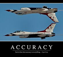 Accuracy - Inspirational Quote and Motivational Poster by StocktrekImages