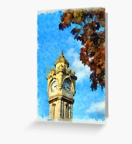 Exeter Clock Tower Greeting Card
