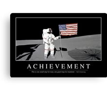 Achievement - Inspirational Quote and Motivational Poster. Canvas Print