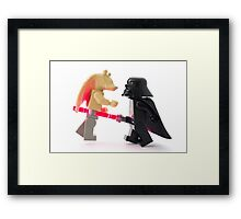 We should have left your tongue in that podracer Framed Print